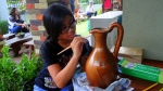 painting a vase