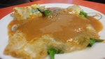 oyster omelet.  nice... too much gravy