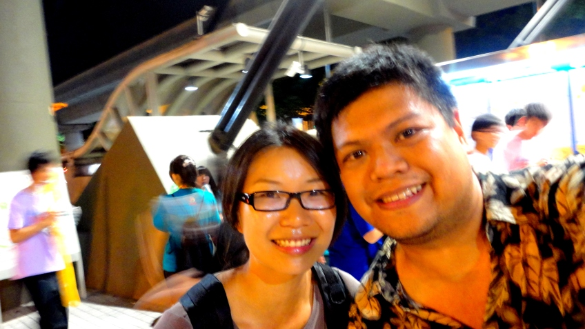 Taipei A and me at the metro station