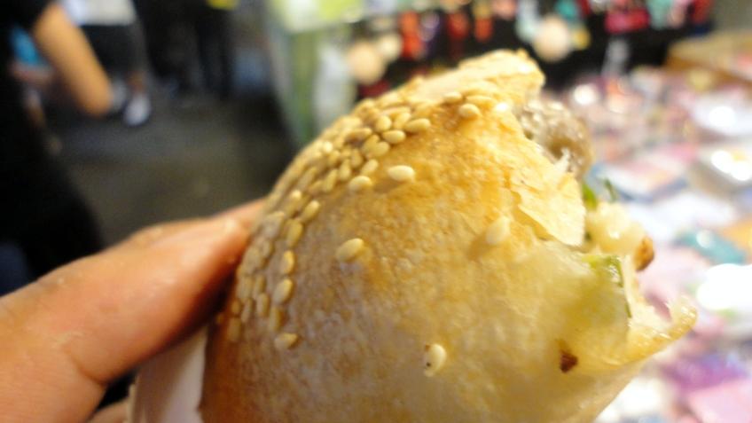 crusty-perfect baked pork burger