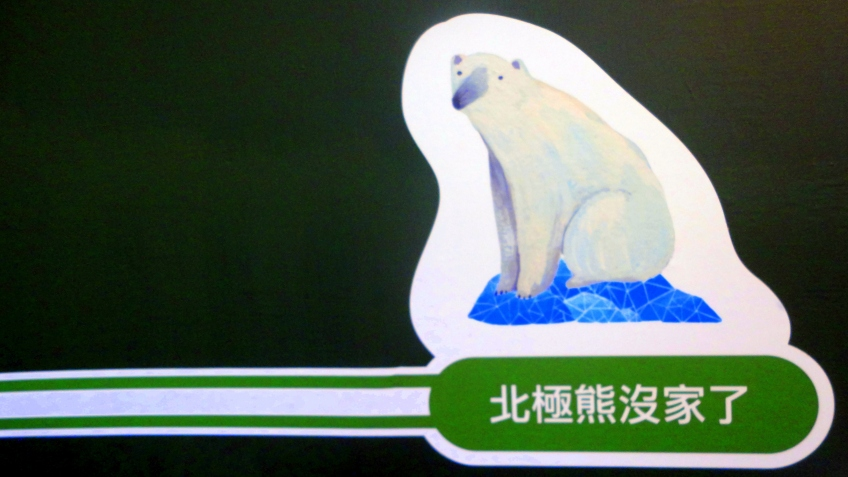 北極熊沒家了 the polar bear is homeless!