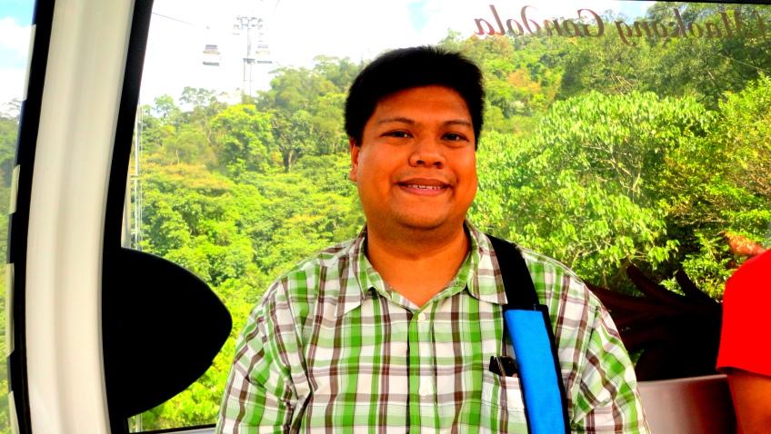 Me, on the 貓空纜車 Maokong Gondola
