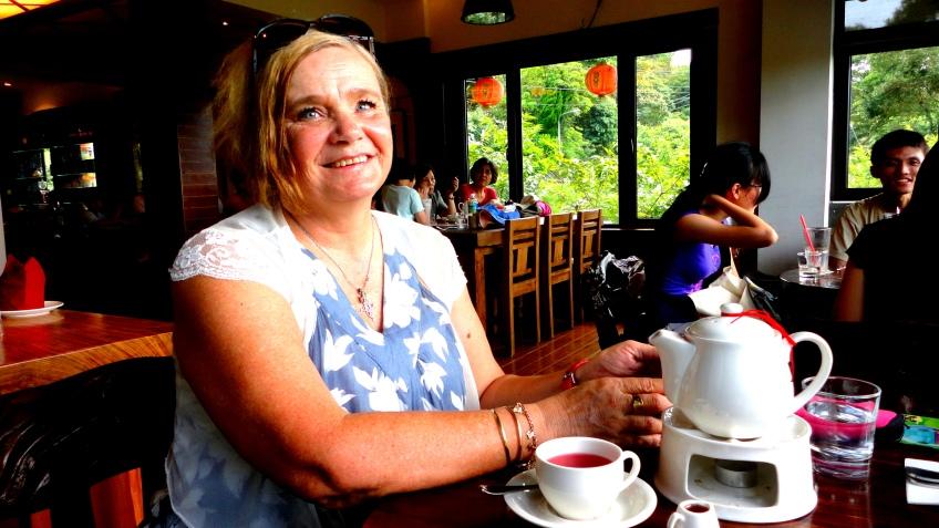 馬麗安 at the teahouse