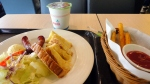 "breakfast at ""my warm day""  Why are french fries not a breakfast item?"