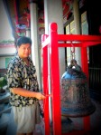 me, ringing the blessing bell, for blessings
