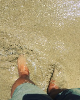 My toes in the Pacific