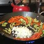 Burn the veggies a little for good pansit.
