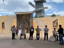 Band at the Santa Cruzan at LA Cathedral