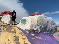 T on Salvation Mountain