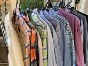 "These are all of my ""fat neck"" dress shirts"""