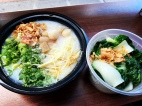 Scallop Congee with bok choi