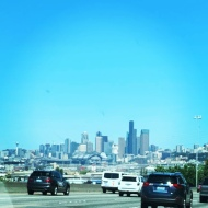 I-5 North, first glimpse of the skyline